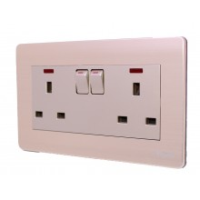 Milano - Double Electricity Socket Switch - Gold