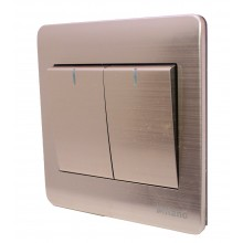 Milano - Double light Switch - Gold