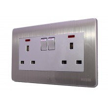 Milano - Double Electricity Socket Switch